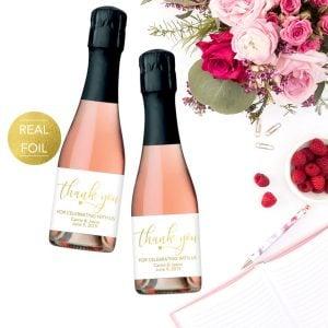mini champagne label
