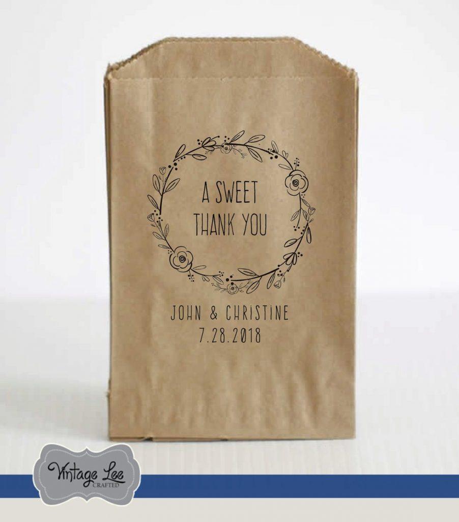 sweet wedding favor bag