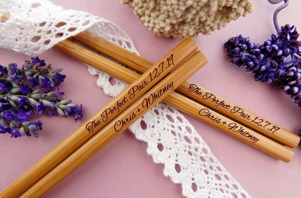 chopsticks engraved
