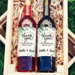 wine label wedding favor