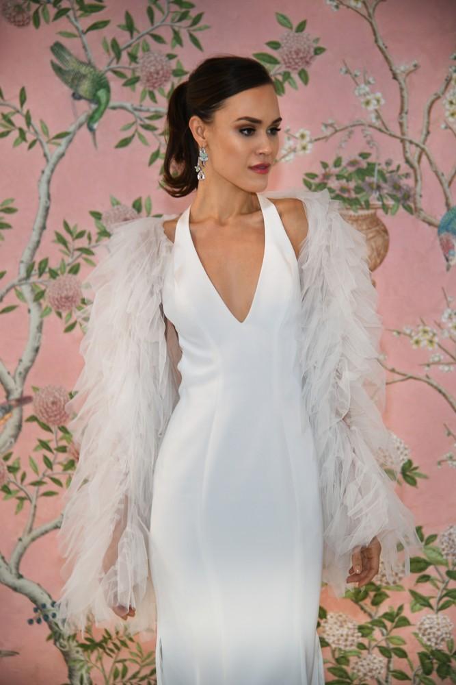 wedding dress halter neckline