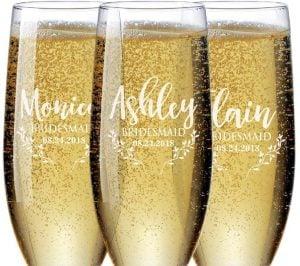 bridesmaid champagne flute