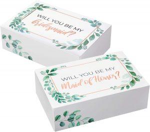 green bridesmaid boxes