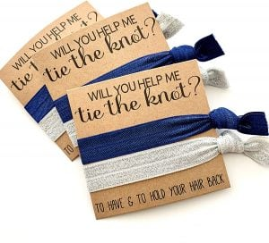 hair tie for bridesmaid