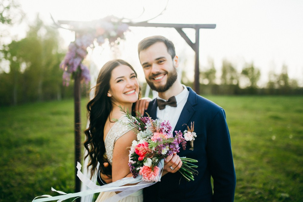 natural light bride and groom