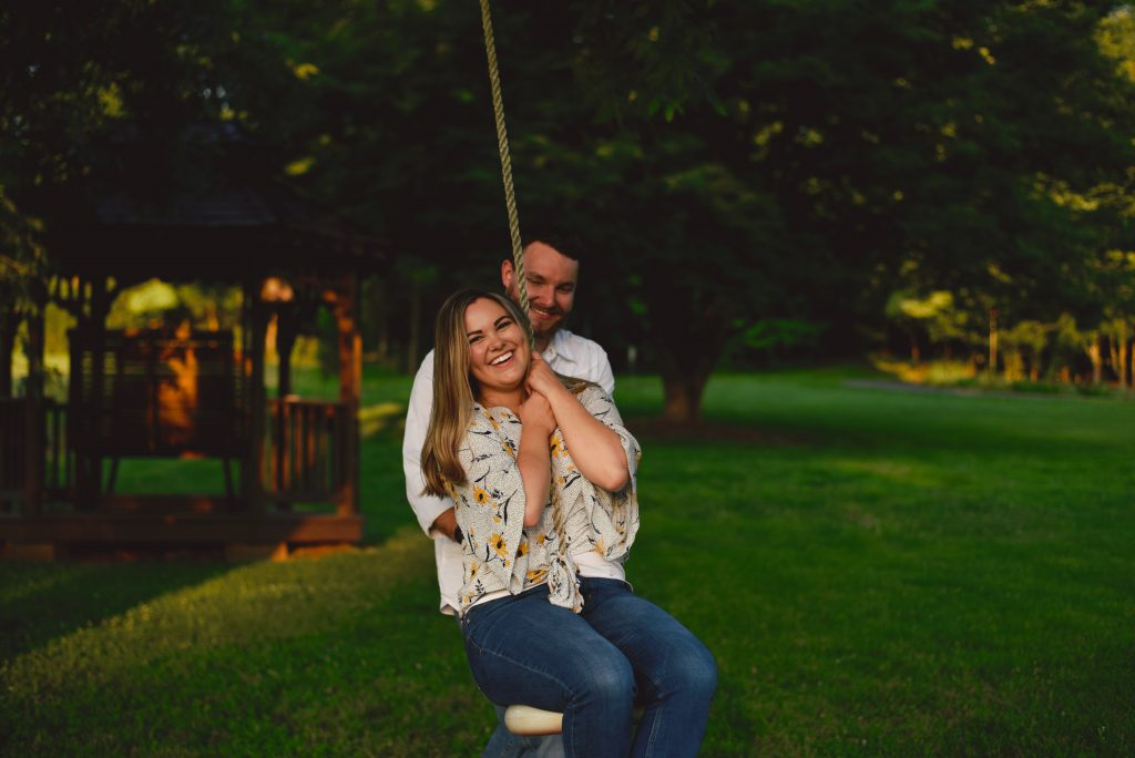 summer engagement photo