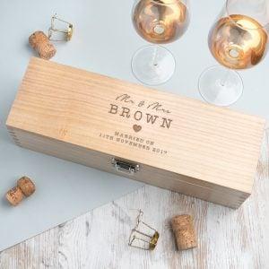 wooden liquor box