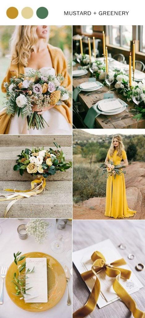mustard yellow wedding