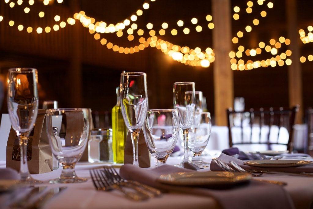 string light wedding