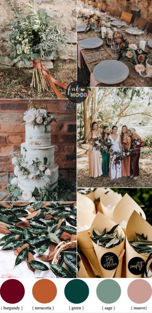 terra cotta wedding colors