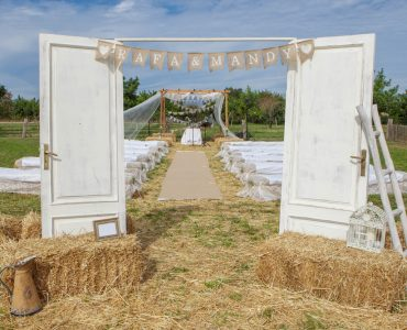 rustic wedding doors