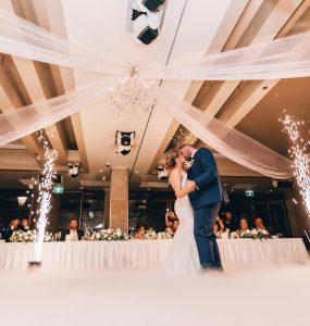 wedding reception timeline