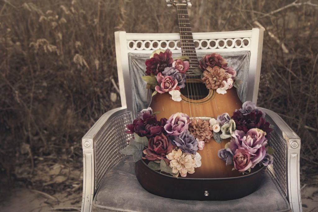 a guitar to play country wedding songs