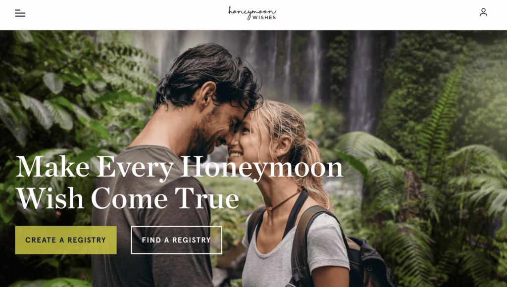 honeymoon registry websites