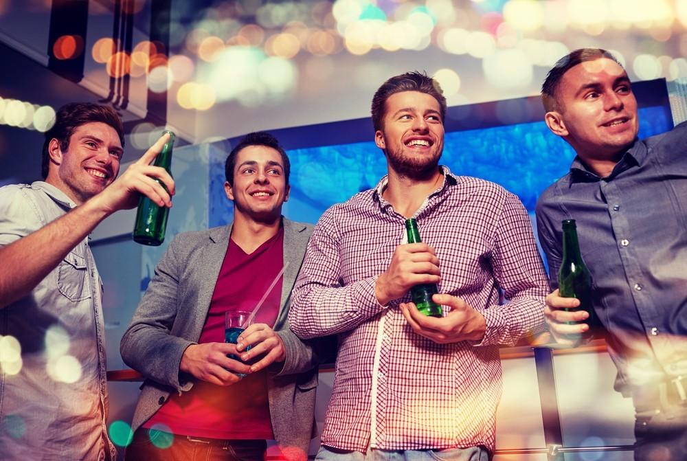 men with beers