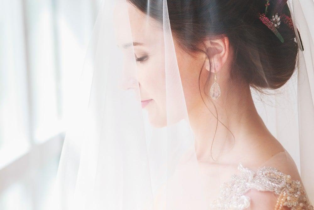 blusher wedding veil covering face
