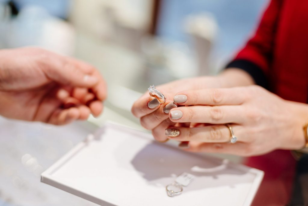 shopping for an engagement ring