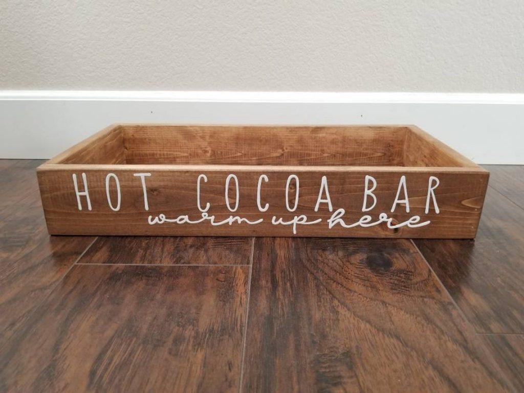 hot cocoa bar tray