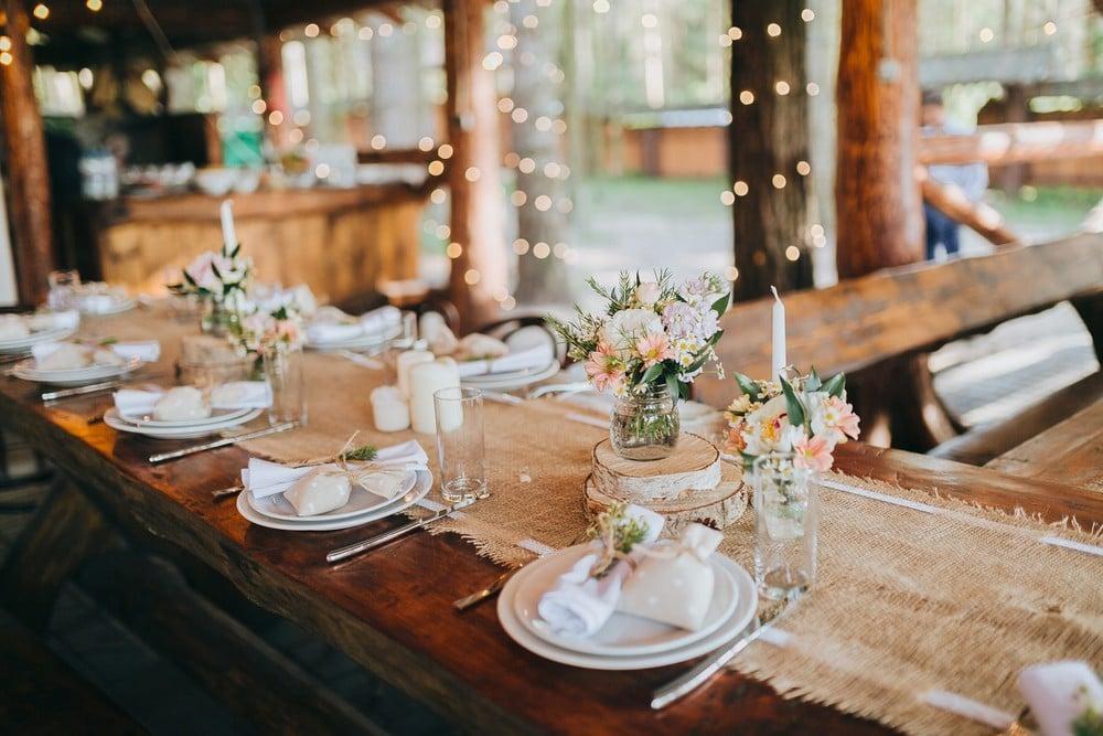 rustic table decor