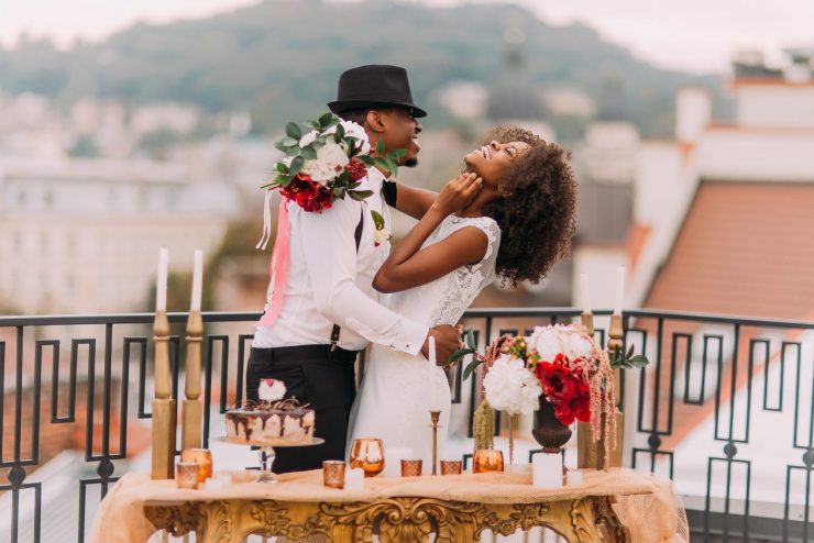 Couple Dancing on Rooftop