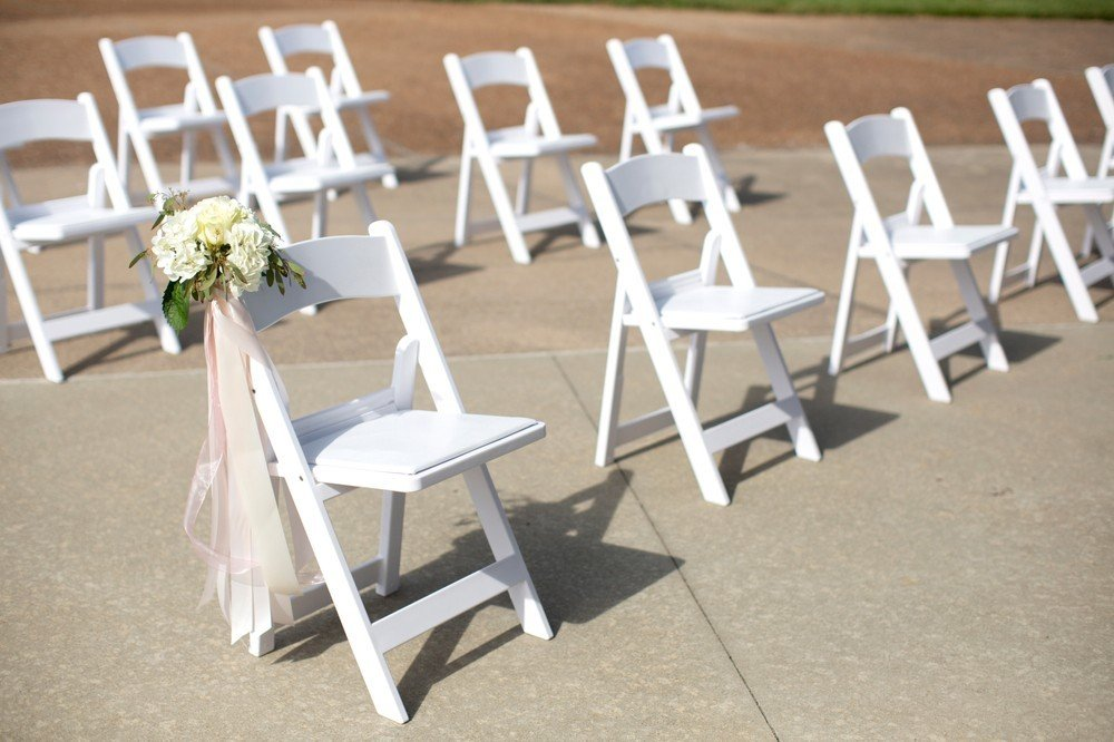 spread out chairs for wedding