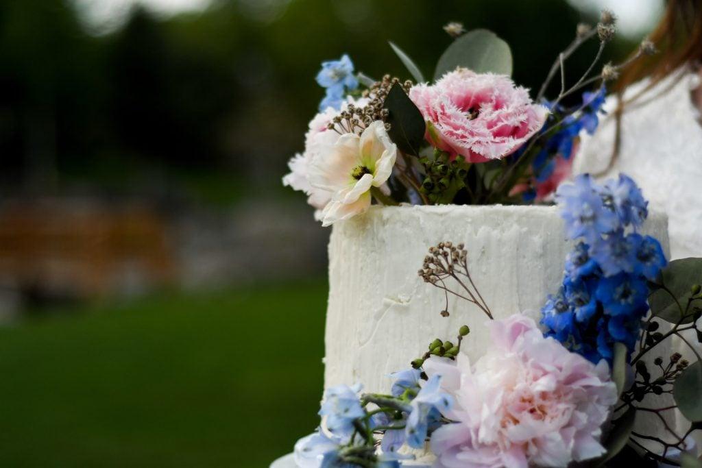 floral wedding cake top
