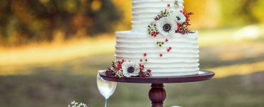 wedding cake on stand