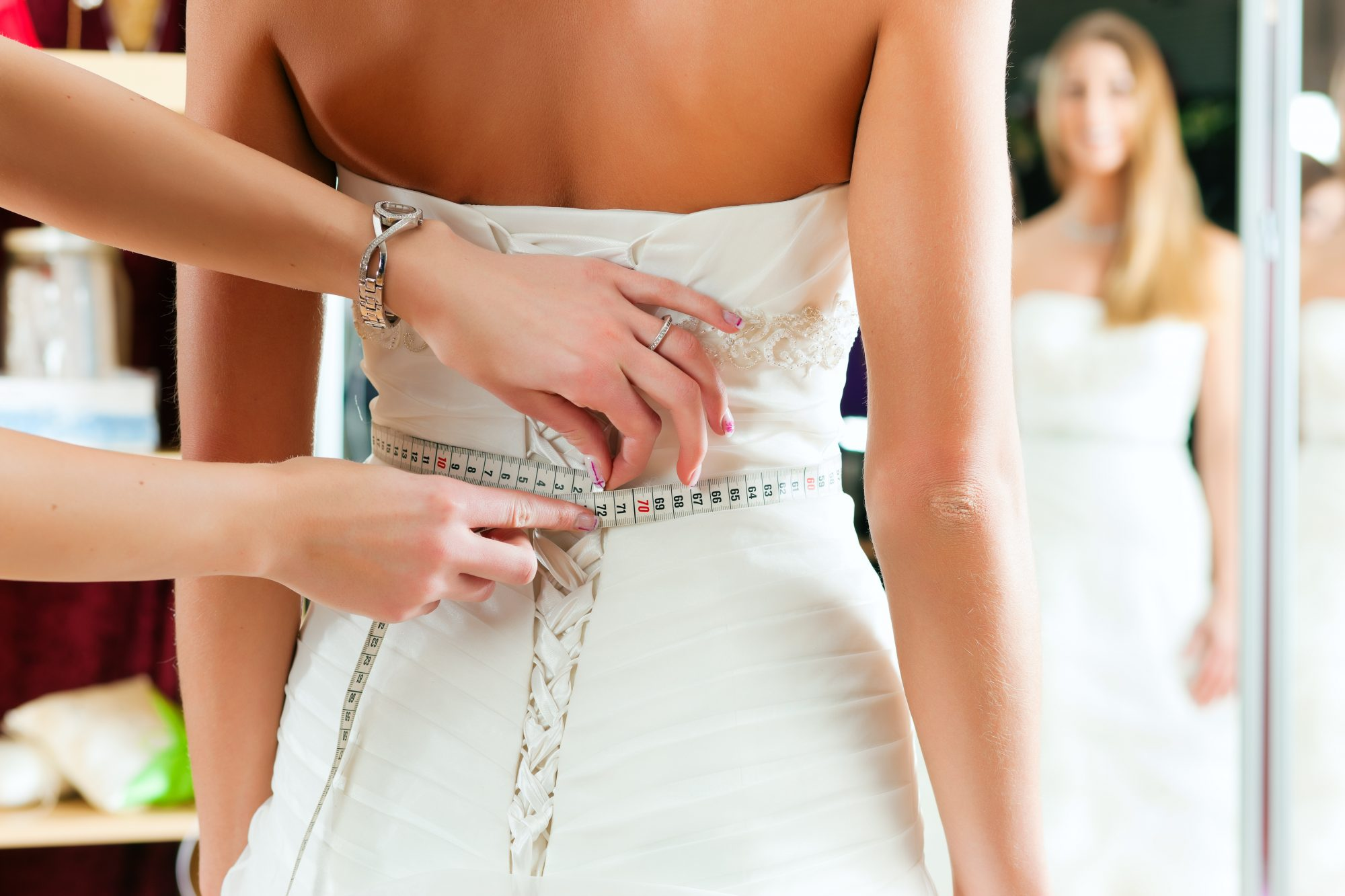 getting wedding gown fitted