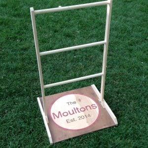 ladder toss with custom logo