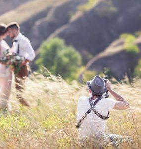 wedding photographer taking photos