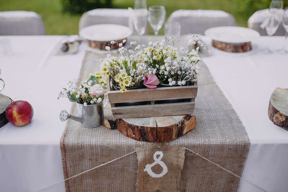 wooden country wedding