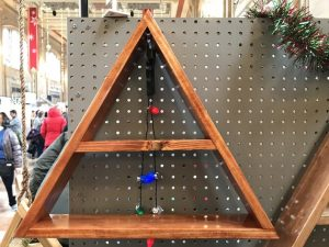 wooden triangle display
