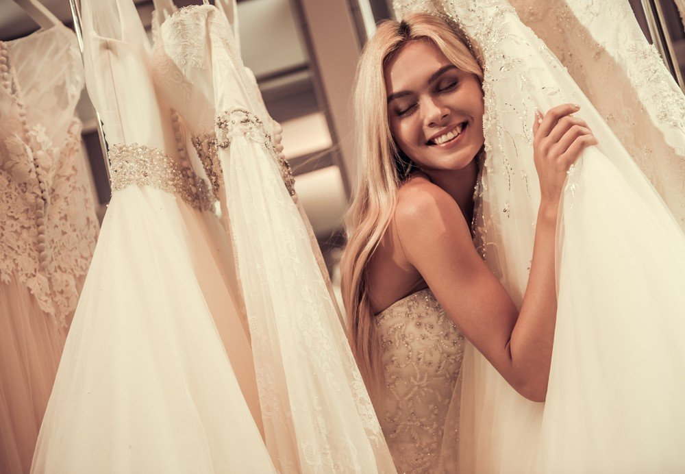 bride with gown