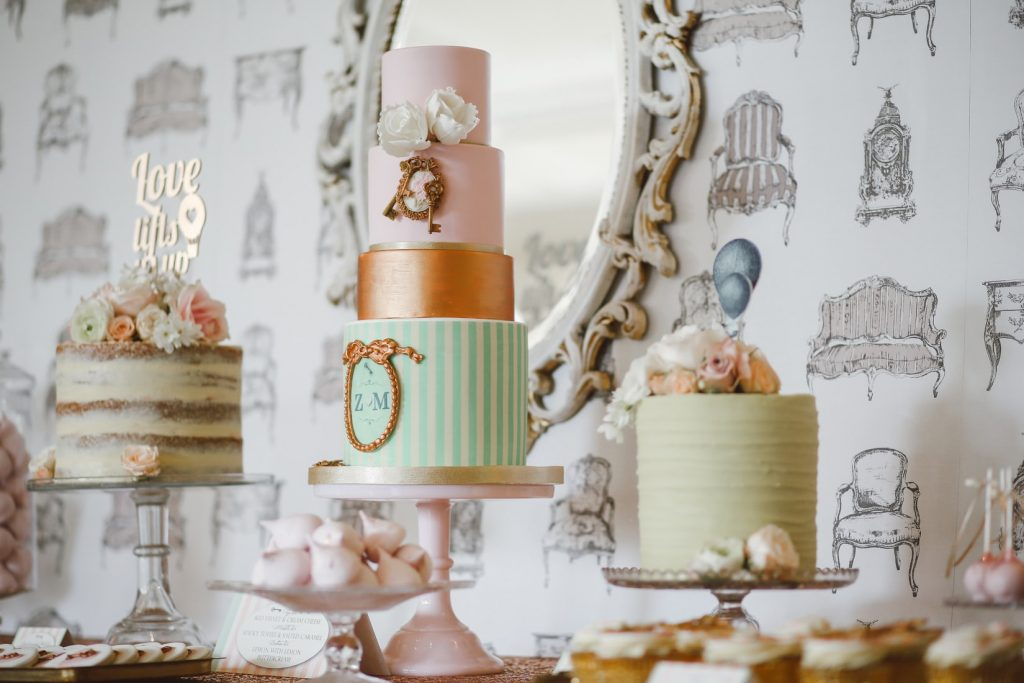 bakery that sells desserts with unique wedding cake toppers