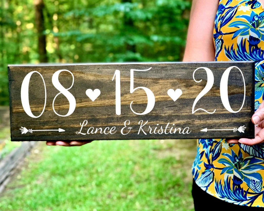 engagement date sign