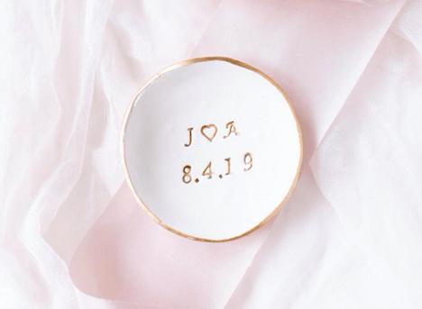 gold ring dish