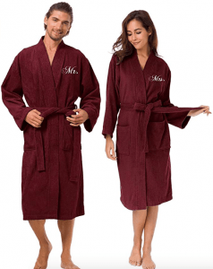 matching red robes