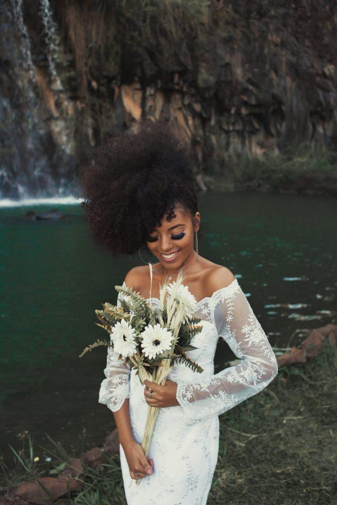 natural bridal hair