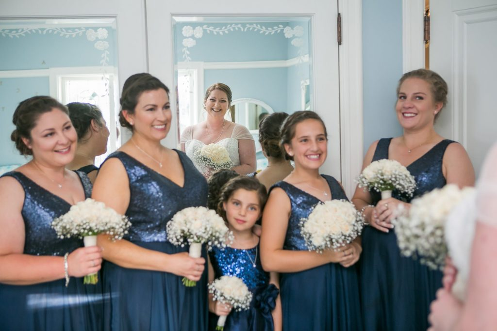photo of finished makeup and hairstyles for bridal party