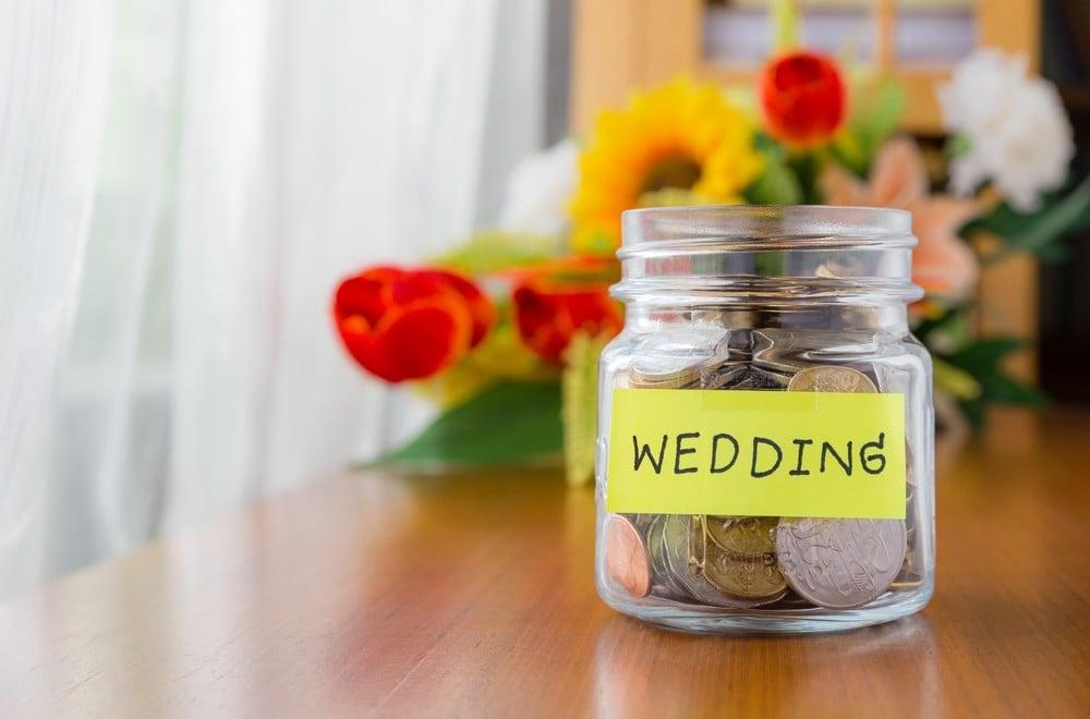 wedding coin jar