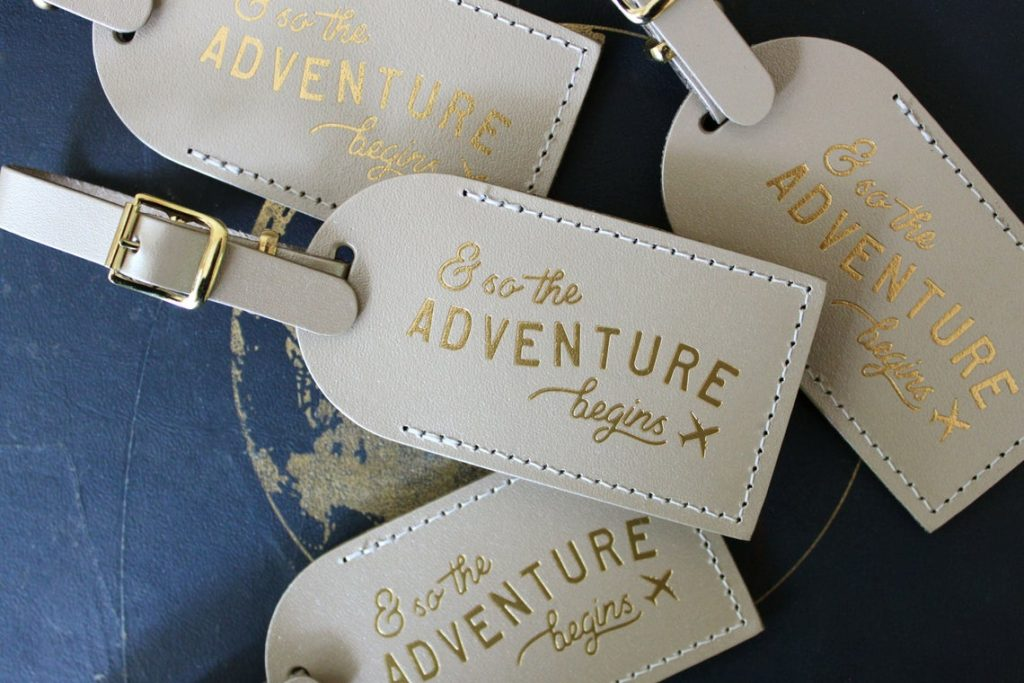 adventure luggage tags