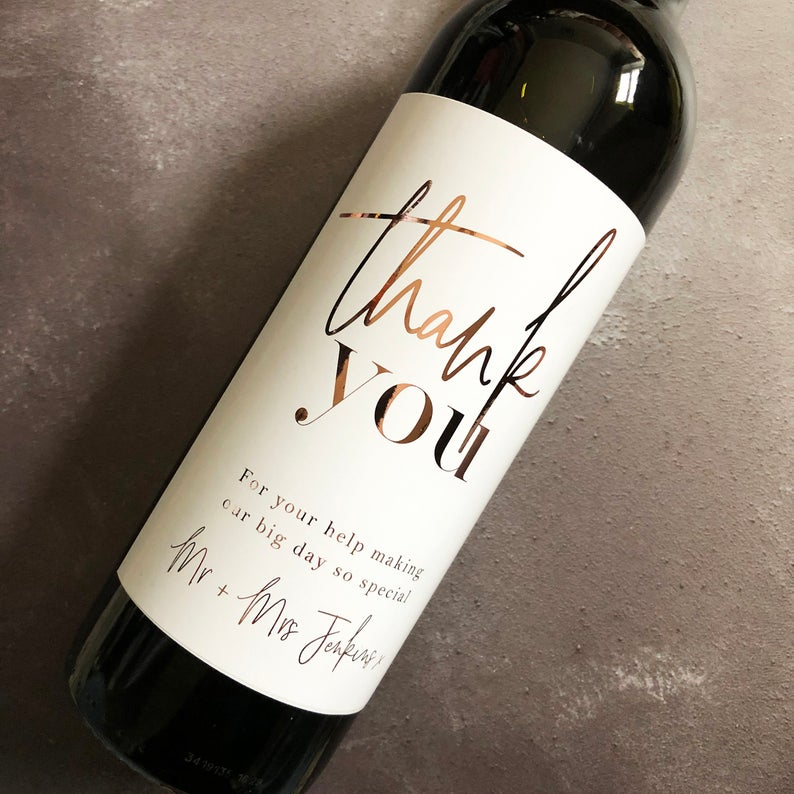 thank you wine bottle