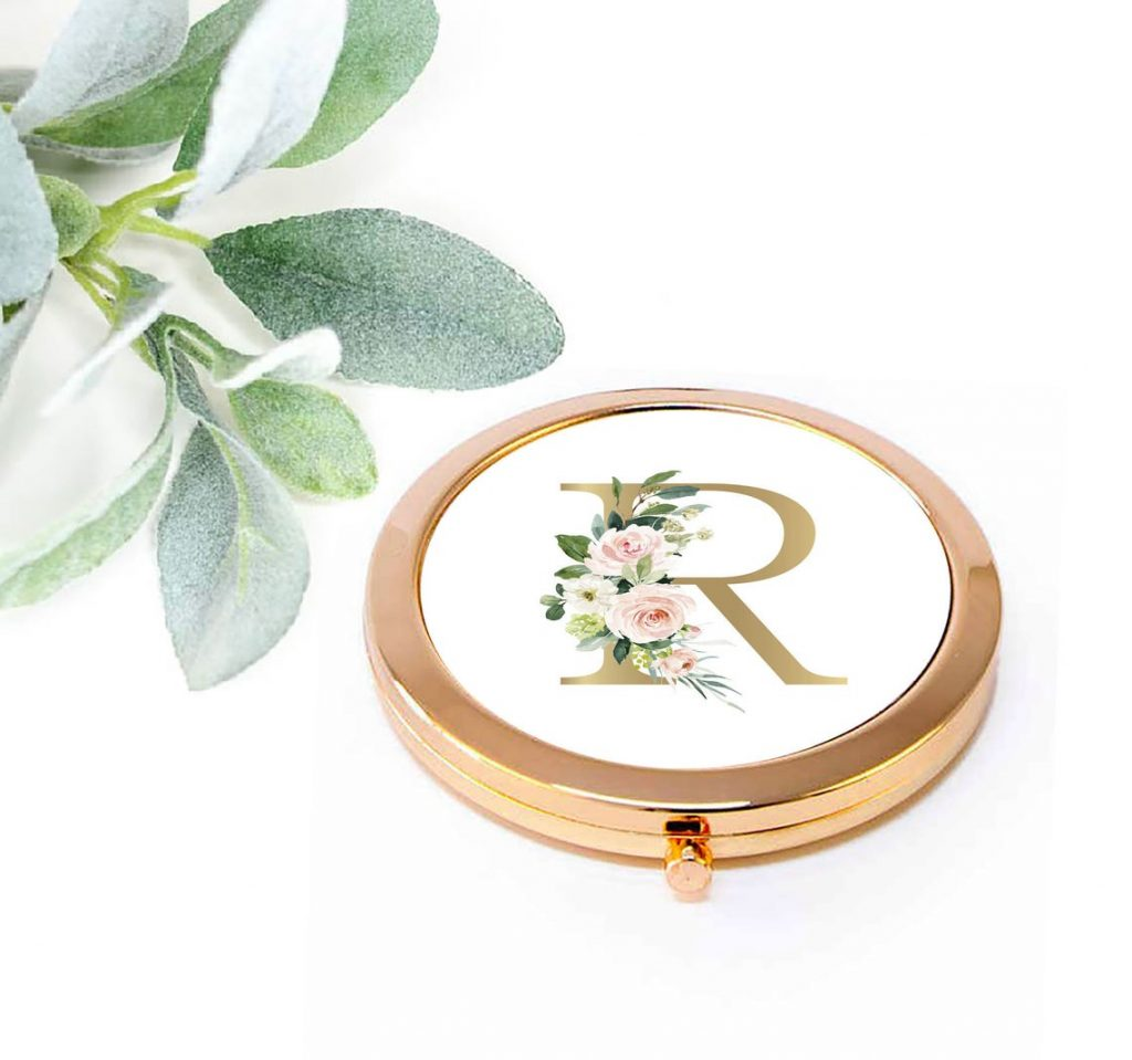 mirror compact with initial