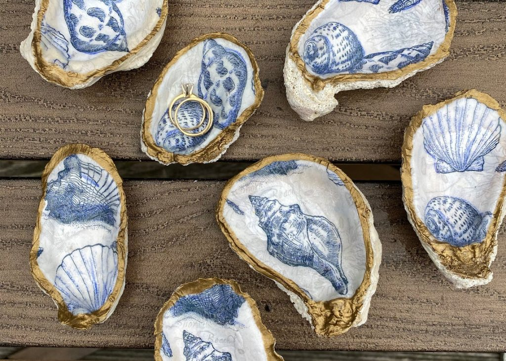 oyster trinket dishes