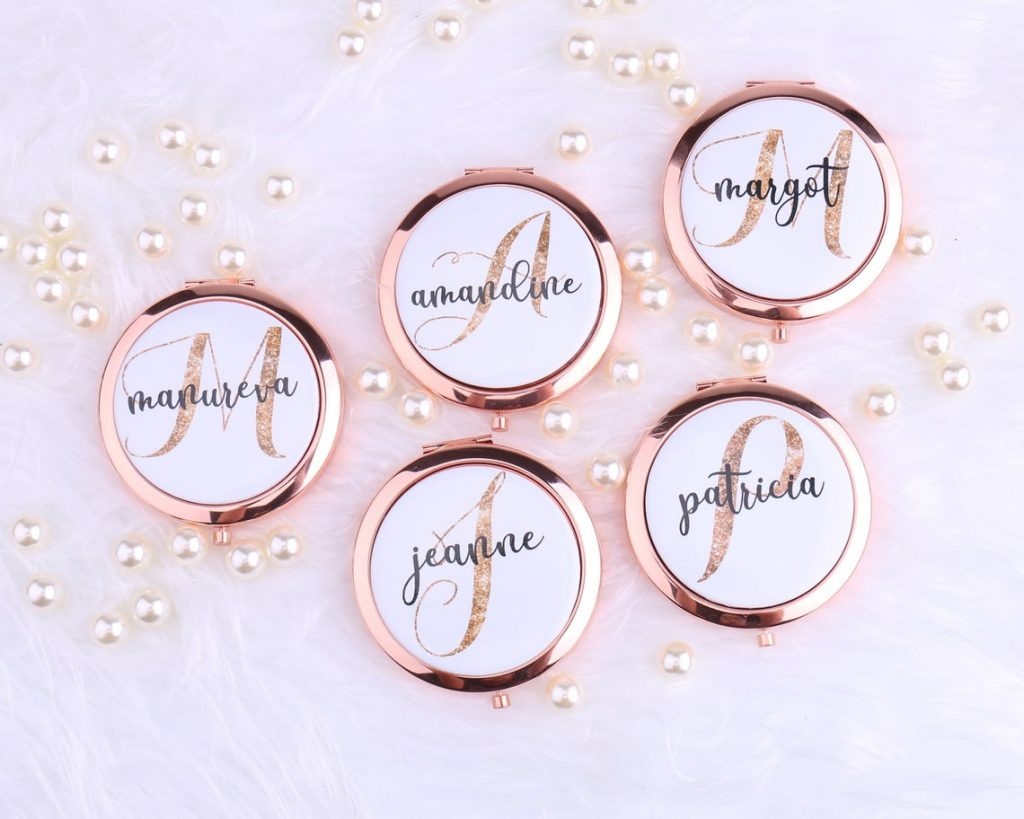 personalized mirror compacts