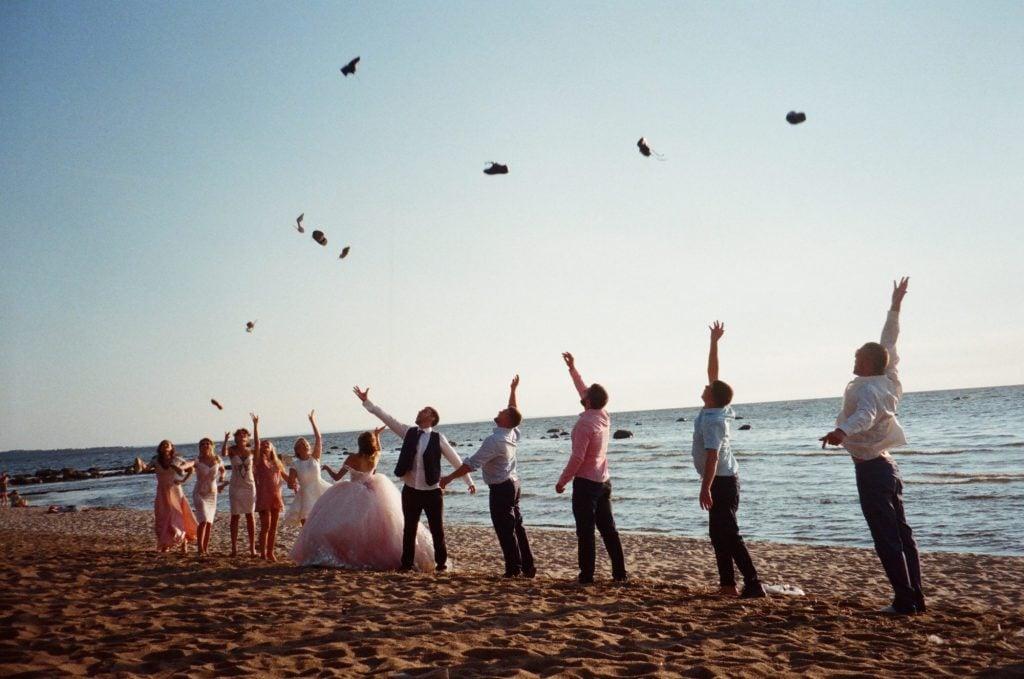 wedding party beach