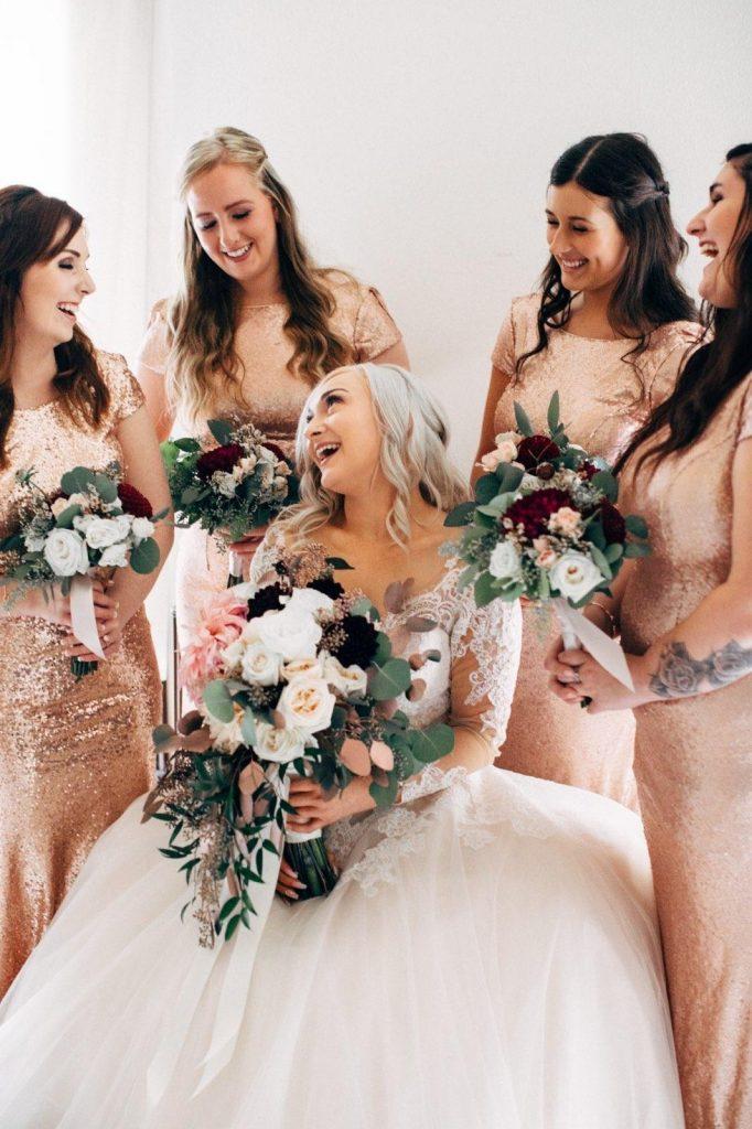 pretty bridal party