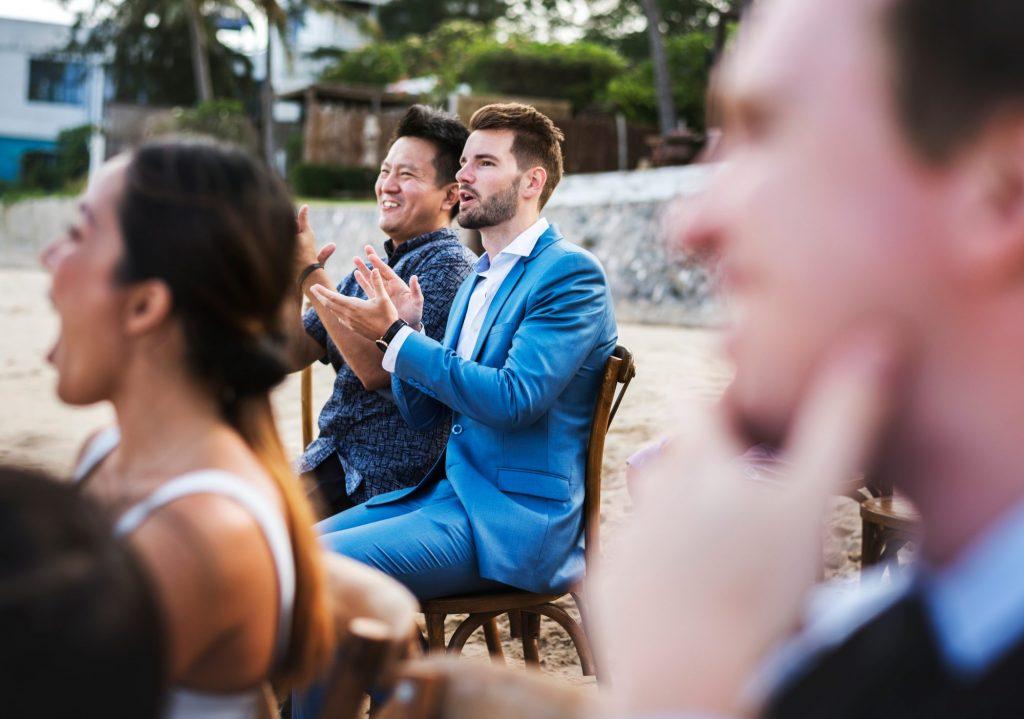 men wedding guests