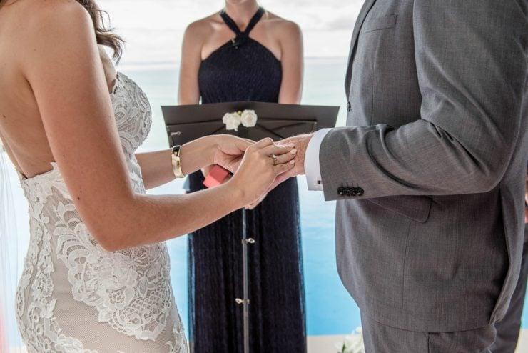 black wedding officiant dress