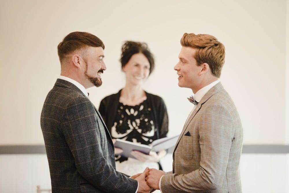 wedding celebrant at a civil ceremony